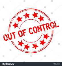 grunge red out control word star stock vector shutterstock