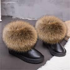 Online Shop Sale <b>G&Zaco Luxury</b> Winter <b>Natural Real</b> Big Fox Fur ...