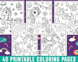 Pick your favorite coloring sheet, and have fun with your coloring pen. Pony Coloring Pages Etsy