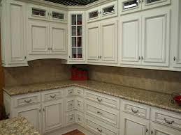 White Antique Kitchen Cabinets White Kitchen Cabinets Dark Granite Countertops Kitchen Designs