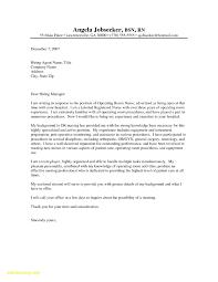 Cover Letter Sample For Job Application Nurse Formal Letter Template