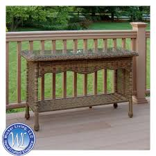 rattan console table. Outdoor Console Table Rattan I