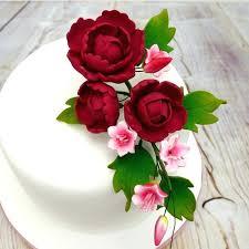 Ruby Wedding Cakes Designs Large Ruby Peony Petite Blossom Spray