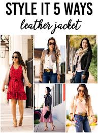 cute little petite fashion blog how to style leather moto jacket outfit