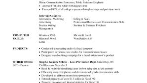 Sample Resume Marketing Internship Objectives For Position Civil ...