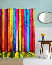 colorful shower curtains. Special D Colorful Stripes Shower Curtains