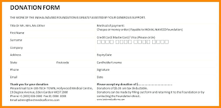 Fundraiser Pledge Form Template Sample 8 Examples In Word Findspeed