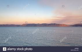 view on bear lake at sunset from the marina of garden city utah united states