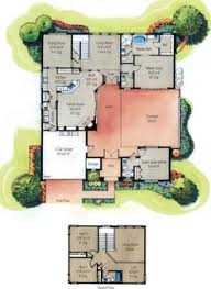 ideas about Beautiful House Plans on Pinterest   Two Story    The Elegant And Also Beautiful House Plans With Courtyards Pertaining To Provide Property