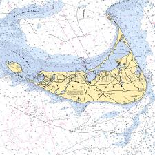 Massachusetts Nantucket Nautical Chart Decor