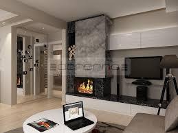 Дизайн на хол в апартамент и частна къща на снимката. Acherno Interior Na Apartament Moka