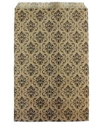 Gold Damask Background Dbg1174 Paper Gift Bag Black Gold Damask Pattern 6 X 9 Bundle Of 100 By Fdjtool