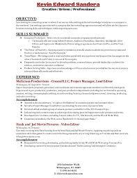 Video Editor Resume Templates Resumes Templates Video Editing Resume 13320 Kymusichalloffame Com