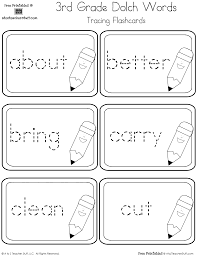 3rd Grade Sight Words Dolch Third Grade Dolch Sight Words Tracing Flashcards A To Z