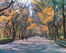 landscape painting mall central park new york city by george zucconi
