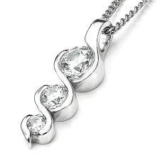graduating swirl diamond pendant