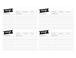 Recipe Card Templates Free Holiday Recipe Card Template Free Templates Writing Sample