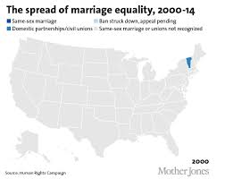 a federal judge just struck down part of ohio s gay marriage ban  gay marriage map gif
