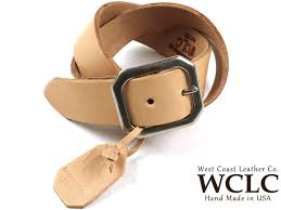 jalana product made in united states made in the wclc west coast leather company heavy saddle leather belt tongue united states 4 5 5mm thickness west