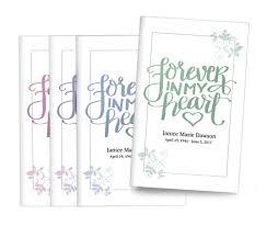 Reads Design And Print Brush Forever Bifold Funeral Program Design Print Pack Of 25
