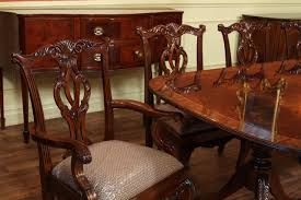 Pedestal Dining Table Set Inlaid Double Pedestal Mahogany Dining Table Seats 14 People