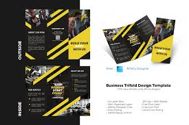 Top 100 free fonts at urbanfonts.com our site carries over 30,000 pc fonts and mac fonts. Fitness Trifold Brochure Template Graphic By Rivatxfz Creative Fabrica