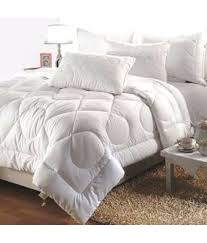 india furnish double poly cotton plain white comforter coordinated