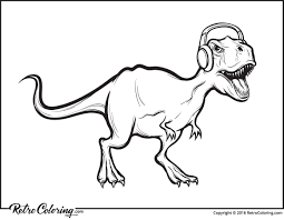 Small Picture T rex dinosaur coloring page RetroColoring