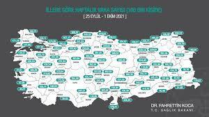 16 Ekim 2021 Cumartesi Türkiye Günlük Koronavirüs Tablosu | Son 24 saat  bugünkü korona tablosu |