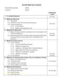 Template Example Weekly Committee Meeting Agenda Template Sample