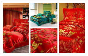 Asian inspired bedding set