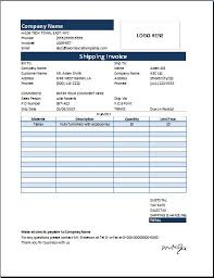 Ms Excel Shipping Sales Invoice Word Excel Templates