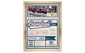 Baseball Brochure Template Baseball League Flyer Template Design