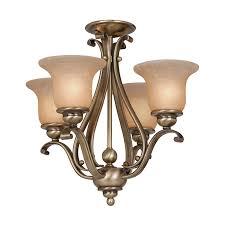 cascadia lighting monrovia 4 light antique brass chandelier