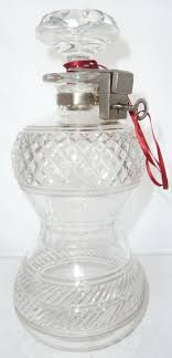 Top Locking Victorian Travelling Silver Plated Top Locking Glass Crystal