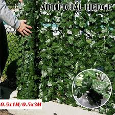 3m artificial hedge ivy leaf garden
