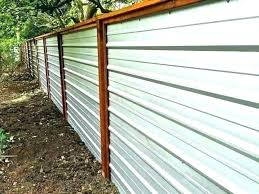 corrugated metal fence corrugated metal fencing galvanized panels fence cost inspiring a corrugated metal fence ideas corrugated metal fence