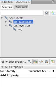 Working with CSS Style Sheets in an HTML5 Application - NetBeans ...