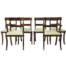 1920s set of six regency influenced gany br inlaid dining chairs