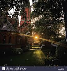 divine lighting. Divine Light- Sun Set In A Church Yard Lighting