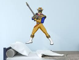 Power Rangers Ninja Steel Gold Ranger Poster Wall Decal Power