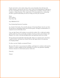 Letters Of Recommendation For Scholarship Letter Of Recommendation For College Scholarship From Pastor 10