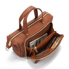 hot designer brenice brenice multi pockets shoulder bags vintage motorcycle bag for women newchic