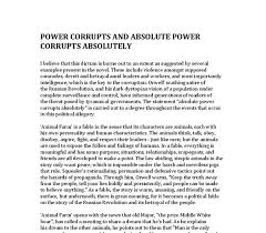 power corrupts and absolute power corrupts absolutely discuss in document image preview