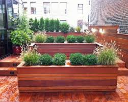 outdoor planter boxes. Deck And Large Planters Box With Plantings Of Evergreens Japanese Inside Planter Boxes Decorations 14 Outdoor