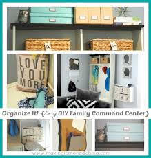 back to school organization ideas diy mudroom family command center