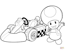 Small Picture Mario Kart Wii Coloring Pages FunyColoring