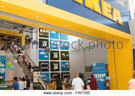 ikea furniture store entrance at rhodes shopping centre in sydney faf1r2