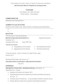 Undergraduate College Resume Template Examples Of Good Resumes For College Students Wikirian Com