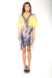 Parides Official Website Parides Lace Up Kaftan Dress Short In